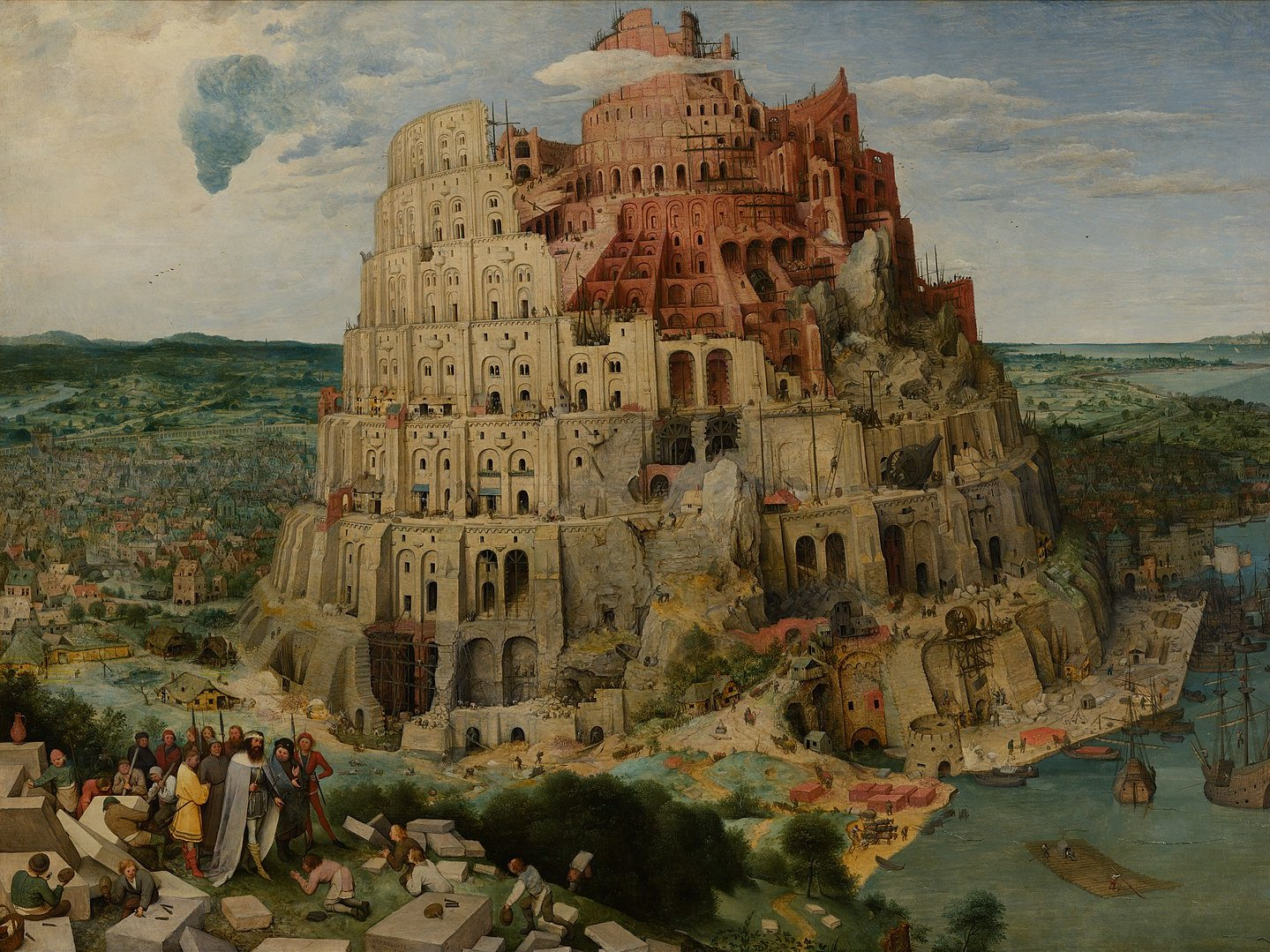 Pieter Bruegel the Elder (c. 1525/1530–1569): The Tower of Babel, c. 1563, oil on panel, Kunsthistorisches Museum, Vienna (image from Google Art Project via Wikimedia)
